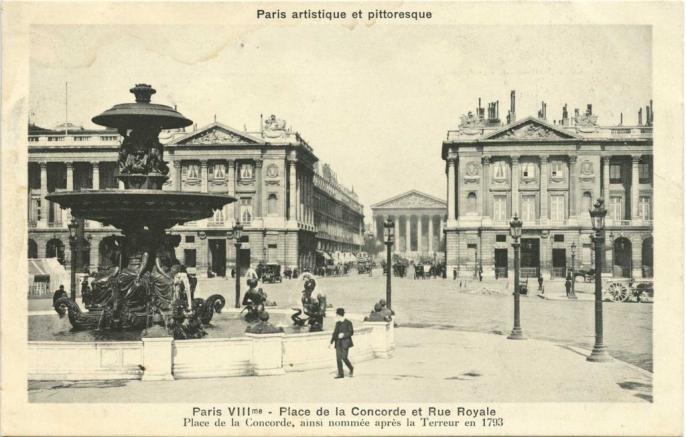 PARIS VIII° - Place de la Concorde et Rue Royale