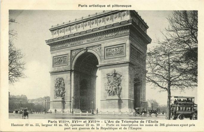 PARIS VIII°, XVI° et XVII° - L'Arc de Triomphe de l'Etoile