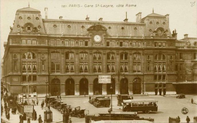 PC 121 - Gare St-Lazare, côté Rome