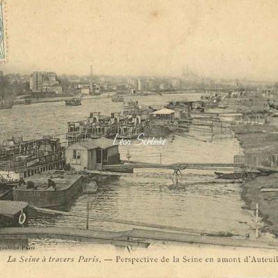 Perspective de la Seine en amont d'Auteuil
