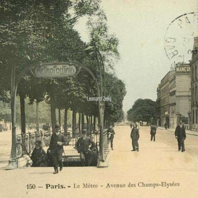 Photo-colore 150 - Paris - Le Métro - Avenue des Champs-Elysées