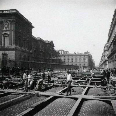 Photo - Construction de la Ligne 1 de 1898 a 1900