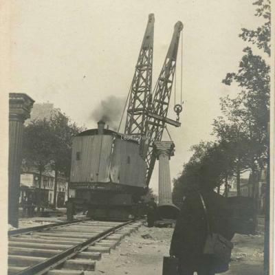 Photo - Construction du Métro (à situer..)