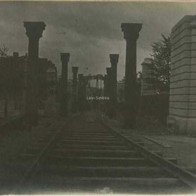 Photo - Construction du Métro, niveau de Chevaleret (à confirmer..)