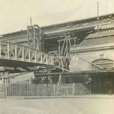 Photo - Paris - Cour d'arrivée Gare d'Austerlitz 06·04·1905