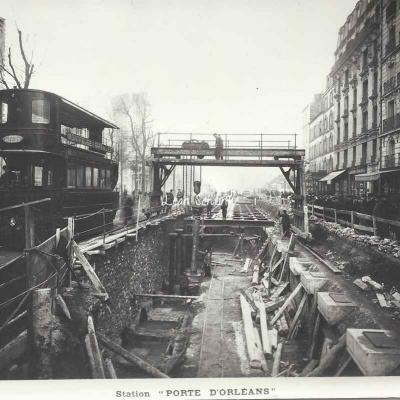 Photo travaux 1908 (ouverture 30 octobre 1909)