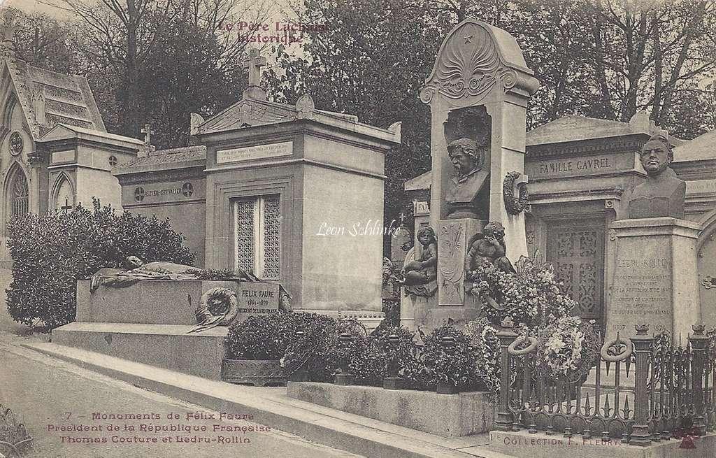 7 - Monuments de Félix Faure, Thomas Couture et Ledru-Rollin