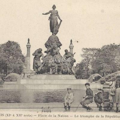 FF 272M - Place de la Nation Le Triomphe de la Republique