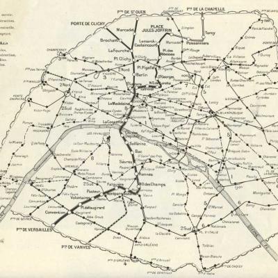 Plan Nord-Sud et Métropolitain en 1910