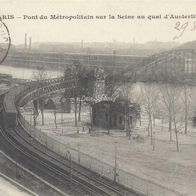 CM 473 - Pont du Metropolitain sur la Seine au Quai d'Austerlitz