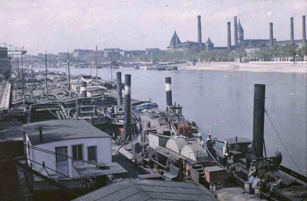 Autochrome - Port d'Austerlitz 30 avril 1920