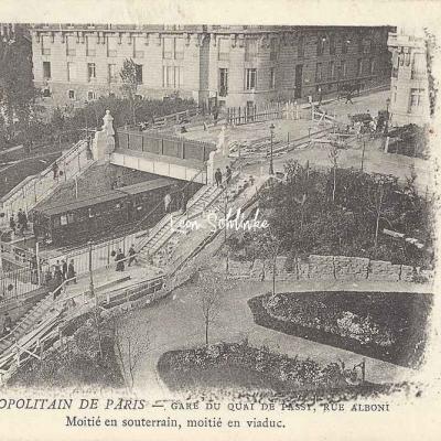 PPC - Métropolitain de Paris, Gare du Quai de Passy, Rue Alboni