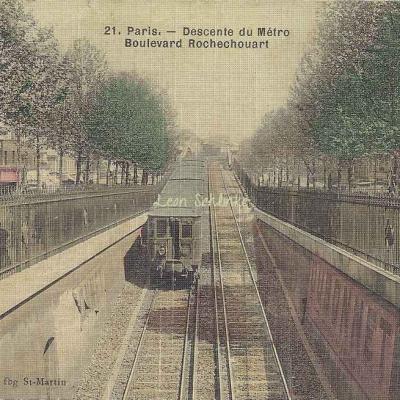 Pringuet 21 - Descente du Métro Boulevard Rochechouart