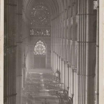 Reims - Cathédrale - La voute et la Grande Rosace