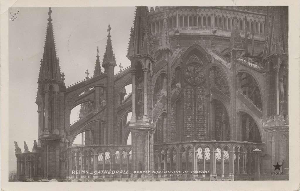 Reims - Cathédrale - Partie superieure de l'Abside