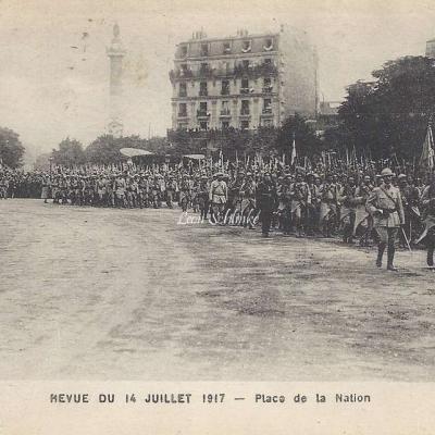 ELD - Revue du 14 Juillet 1917 Place de la Nation