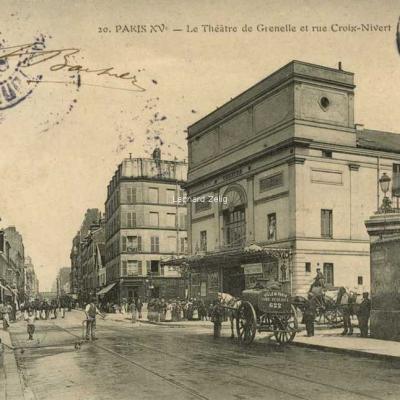 Richer 20 - PARIS XV° - Le Théâtre de Grenelle et rue Croix-Nivert