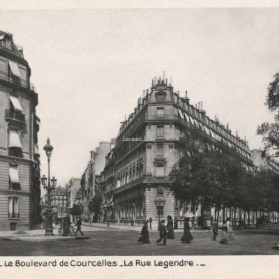 Rose 313 - PARIS - Le Boulevard de Courcelles - L'Avenue Legendre