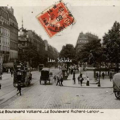 Rose 397 - Les Boulevards Voltaire et Richard-Lenoir