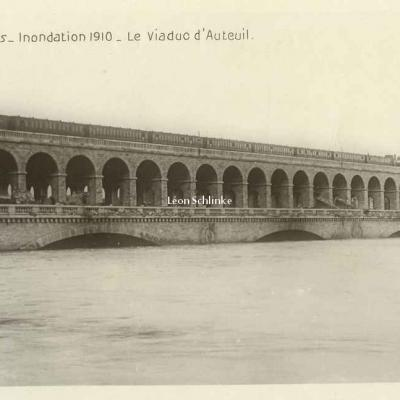 Rose 509 - Inondations 1910 - Le Viaduc d'Auteuil
