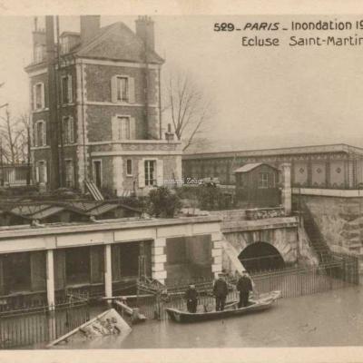 Rose 529 - PARIS - Inondation 1910 - Ecluse St-Martin