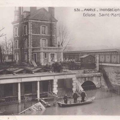 Rose 531 - Inondations 1910, Ecluse St-Martin