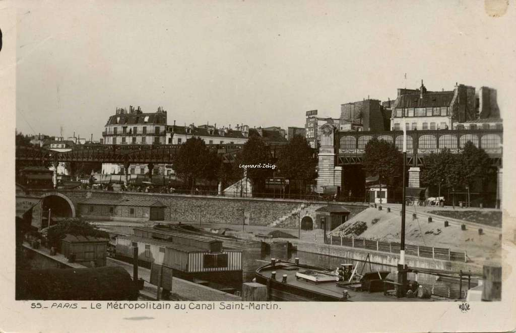 Rose 55 - PARIS - Le Métropolitain au Canal Saint-Martin