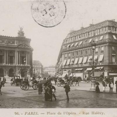 ROSE 96 - PARIS - Place de l'Opéra - Rue Halévy
