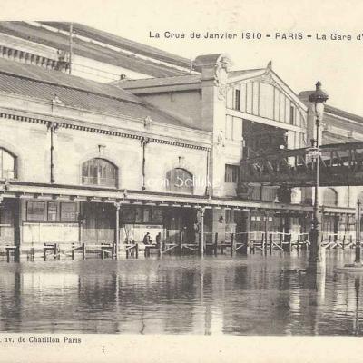 Roussel edit. - La Crue de Janvier 1910 à la Gare d'Orléans