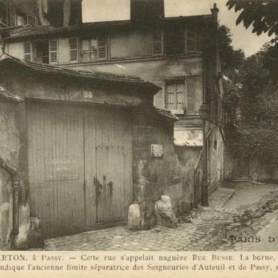 Rue Berton, à Passy
