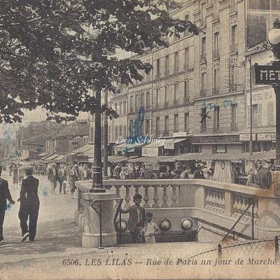 EM 6506 - Rue de Paris un jour de Marché