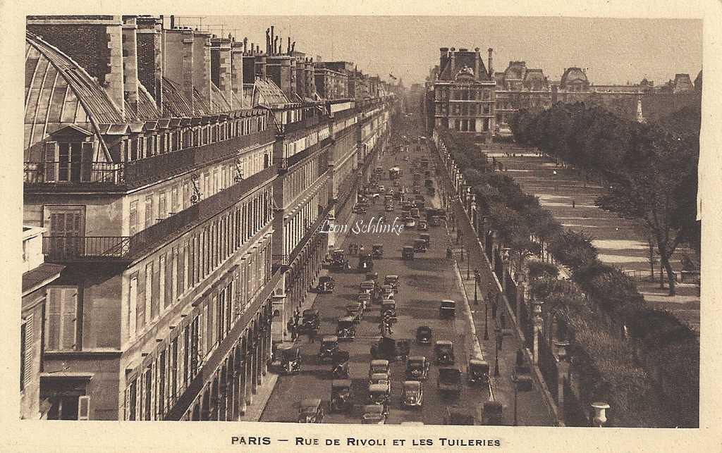 Inconnu - Rue de Rivoli et les Tuileries