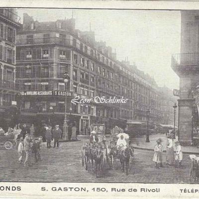 S.Gaston, Vente de Fonds, 150, Rue de Rivoli