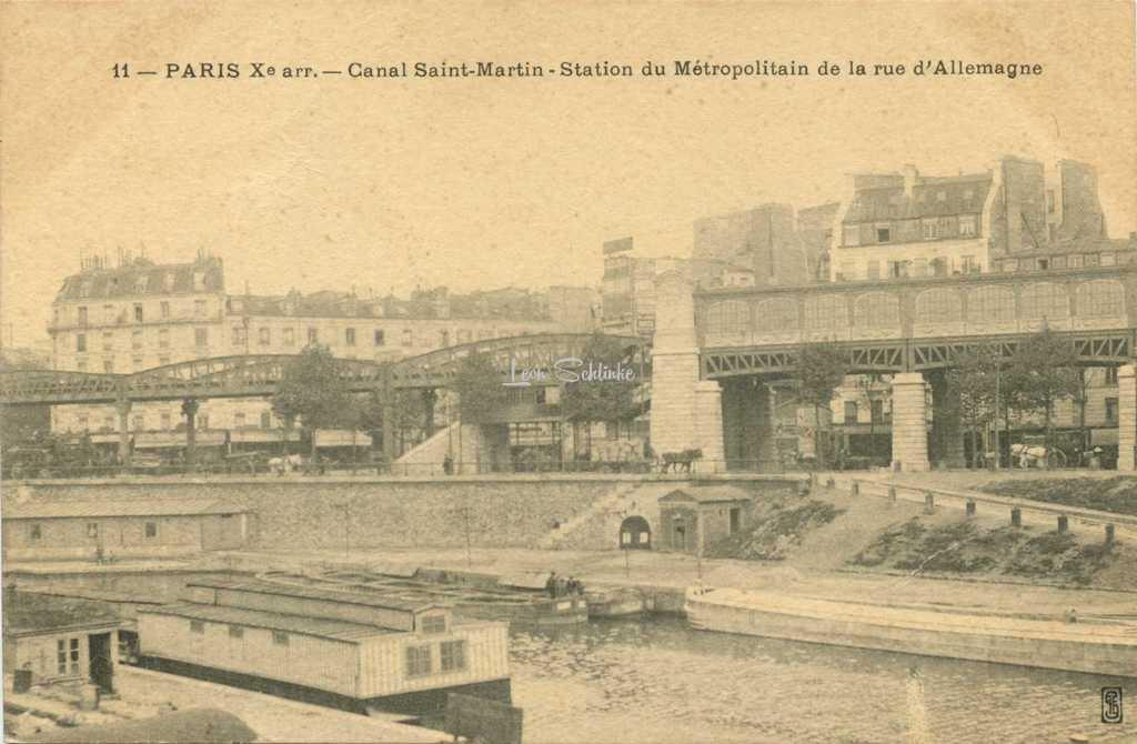 SFE 11 - PARIS X° arr. - Canal St-Martin, Station du Métro