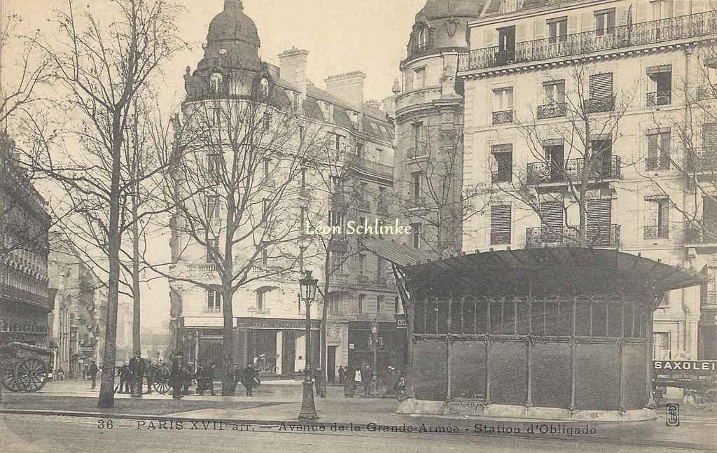 SFE 36 - Avenue de la Grande-Armée - Station d'Obligado