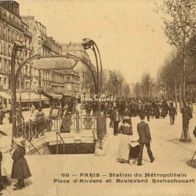 SRA 69 - Station du Métropolitain, Place d'Anvers