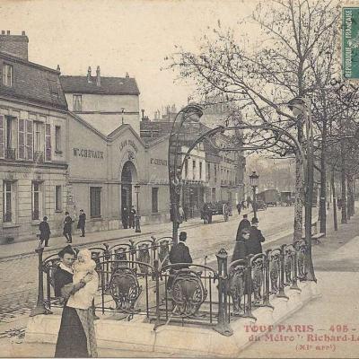 FF 495 - Tout PARIS - Station du Metro Richard-Lenoir