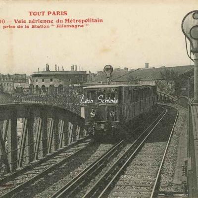 Tout Paris 1000 - Voie aérienne du Métro prise de la Station ALLEMAGNE