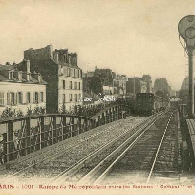 Tout Paris 1001 - Rampe du Métro entre COMBAT et ALLEMAGNE