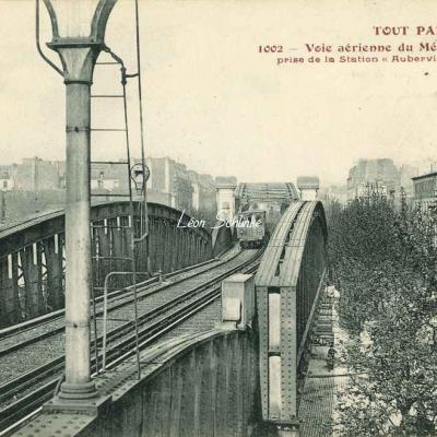 Tout Paris 1002 - Viaduc du Métro vue de la Station AUBERVILLIERS