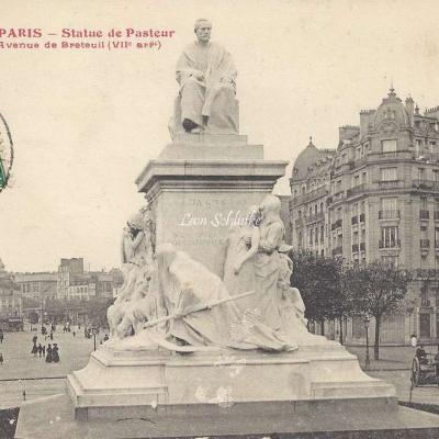 Tout Paris 1005 - Statue de Pasteur Avenue de Breteuil