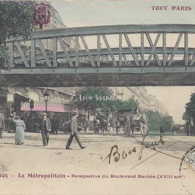 Tout Paris 105 - Le Métropolitain - Perspective du Boulevard Barbès