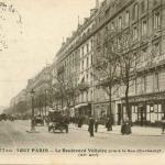 Tout Paris 1077 bis - Le Boulevard Voltaire pris à la Rue Oberkampf