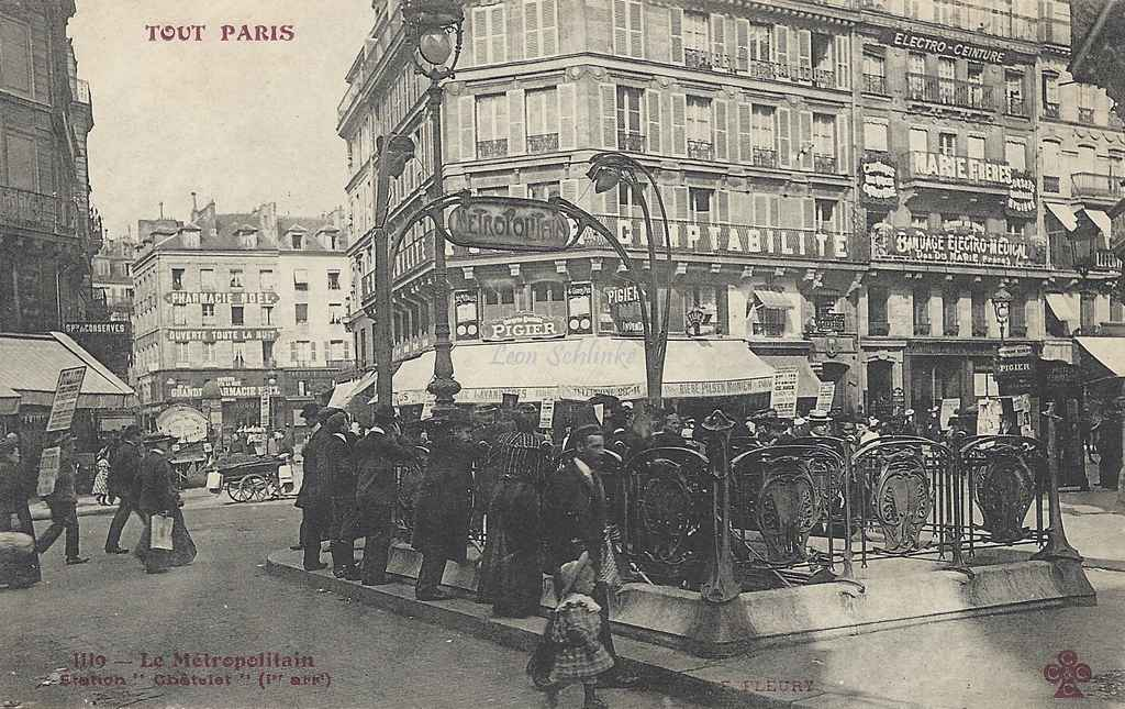 Tout Paris 1119 - Le Métropolitain Station ''Châtelet''