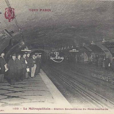 Tout Paris 1122 - Le Métro - Station Souterraine du Père-Lachaise
