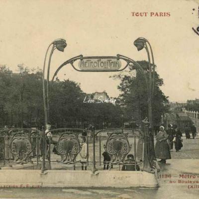 Tout Paris 1136 - Métro - Station Saint-Marcel au Bd de l'Hôpital
