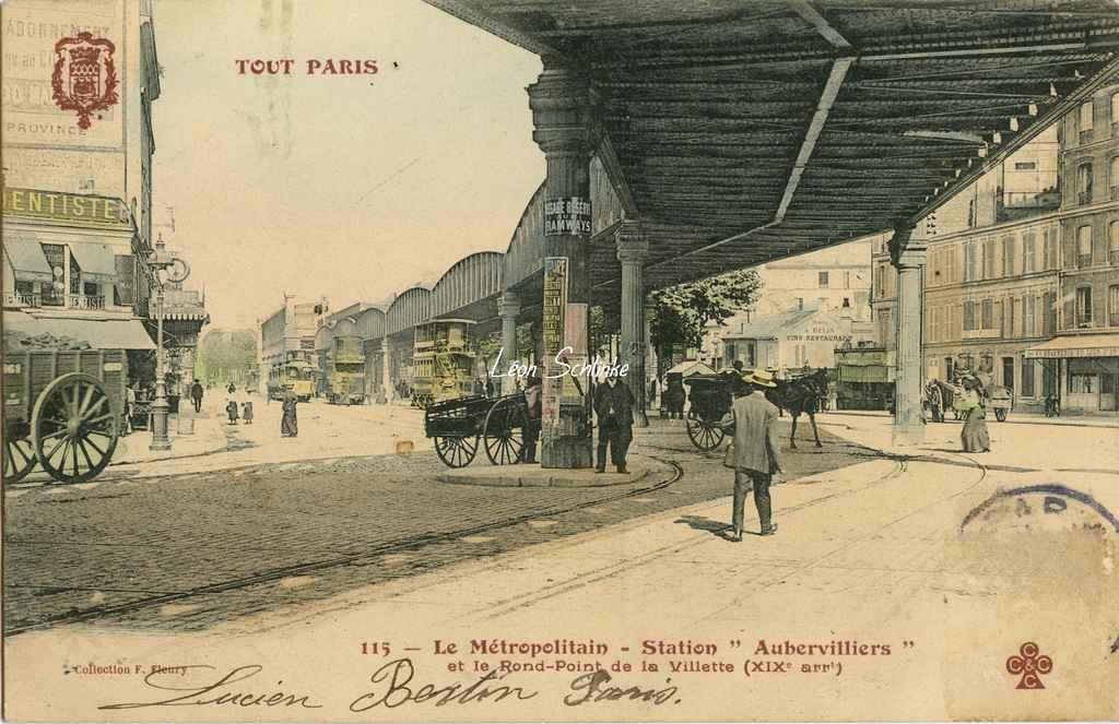 Tout Paris 115 - Le Métropolitain, Station Aubervilliers