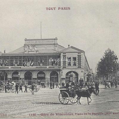 Tout Paris 1190 - Gare de Vincennes Place de la Bastille (XII° arrt)