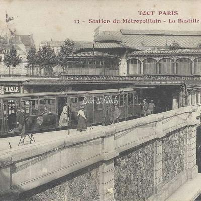 Tout Paris 13 - Station du Métropolitain - La Bastille