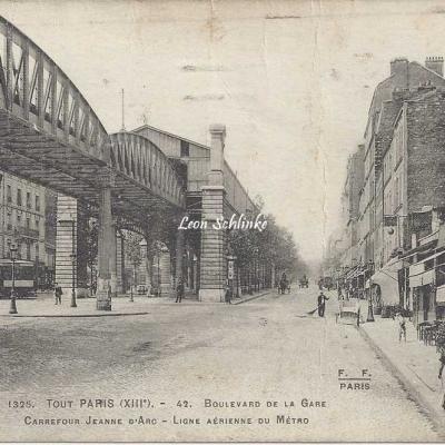 Tout Paris 1325 - 42 - Bd de la Gare au Carrefour Jeanne d'Arc